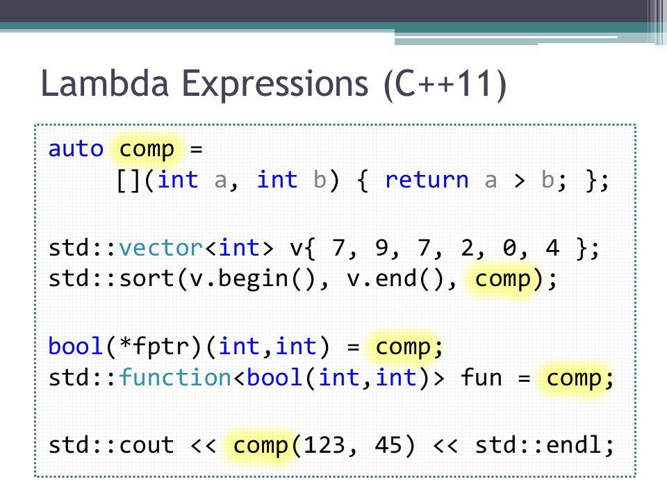 Lambda Expressions (C++11)
