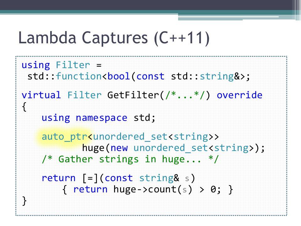 Lambda Captures (C++11)