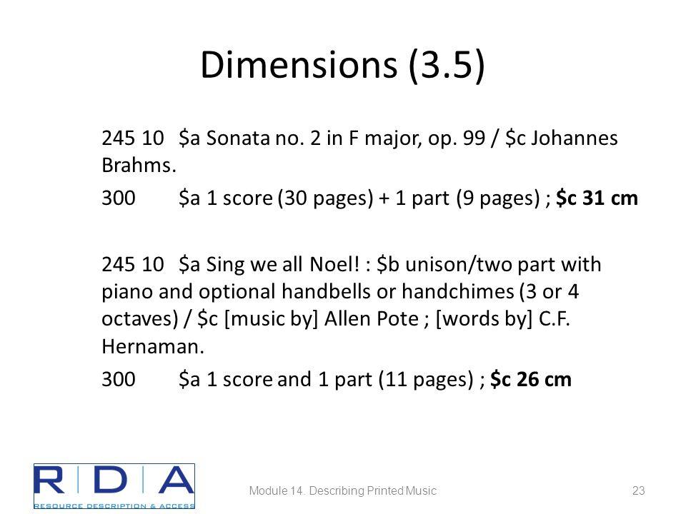 Dimensions (3.5) 245 10 $a Sonata no. 2 in F major, op.
