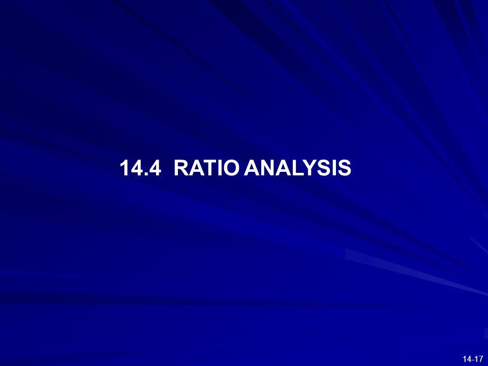 14-17 14.4 RATIO ANALYSIS