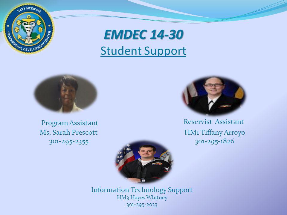 EMDEC 14-30 EMDEC 14-30 Student Support Program Assistant Ms.