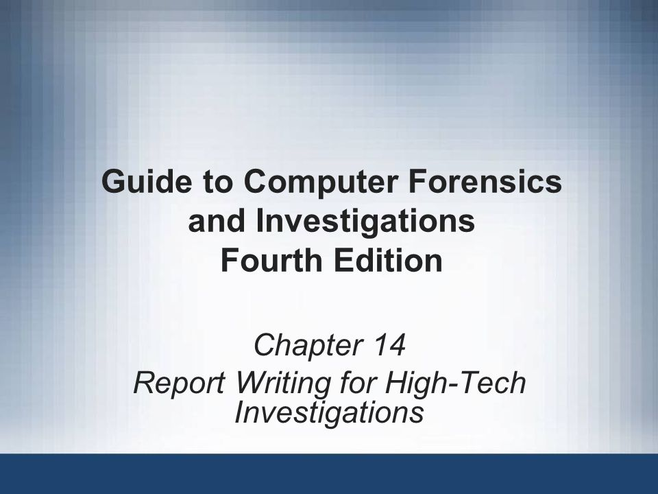 Guide to Computer Forensics and Investigations2 Objectives Explain the importance of reports Describe guidelines for writing reports Explain how to use forensics tools to generate reports