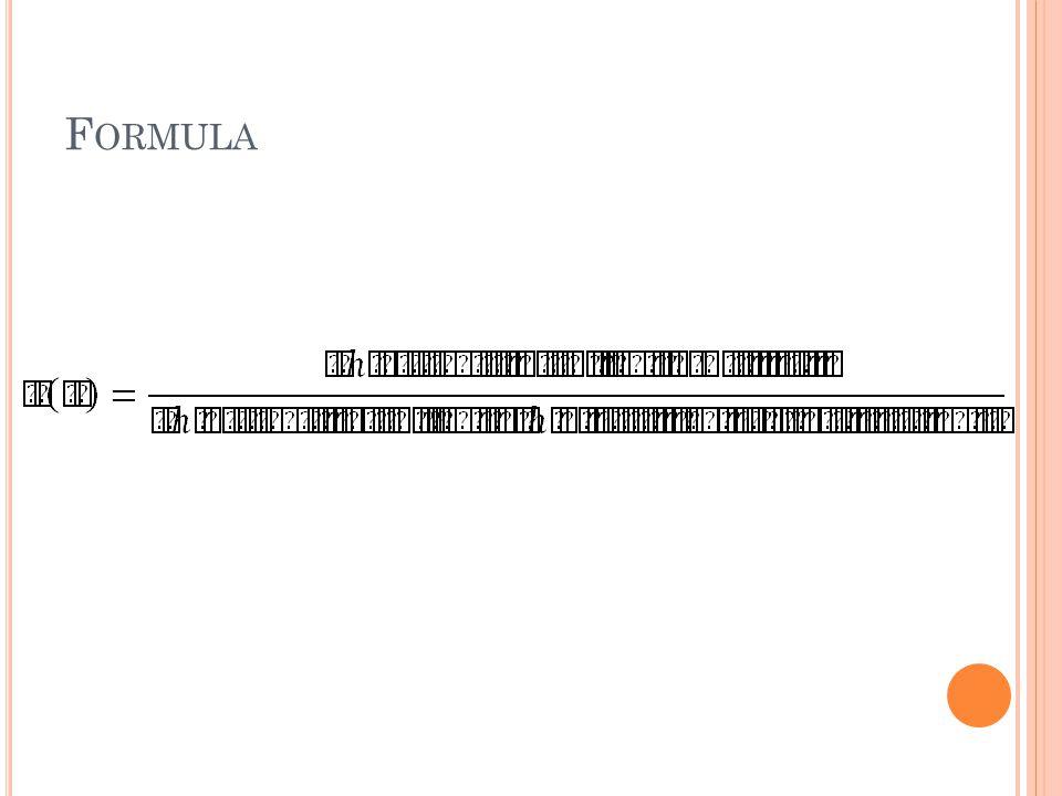 F ORMULA
