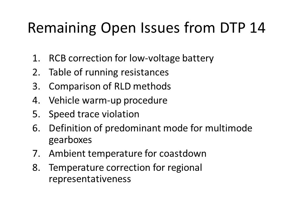 1.RCB Correction Issue: The SoC of the low voltage battery has an impact on fuel consumption.