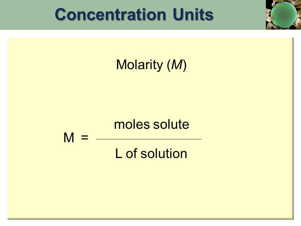 Calculating Concentrations Calculating ConcentrationsProblem: 62.1 g (1.00 mol) of ethylene glycol is dissolved in 250.