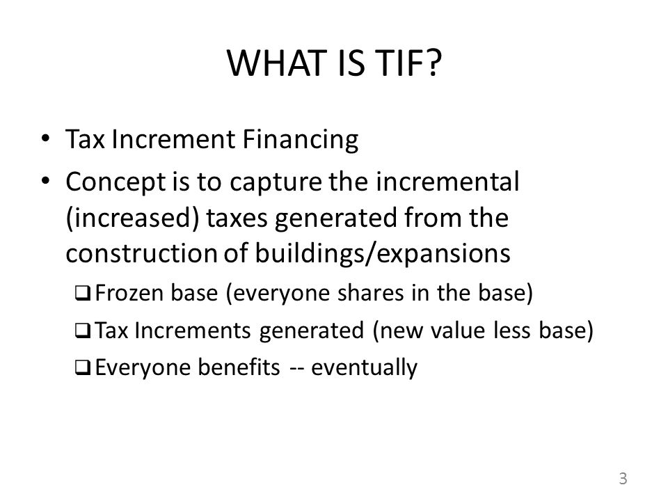 WHAT IS TIF.