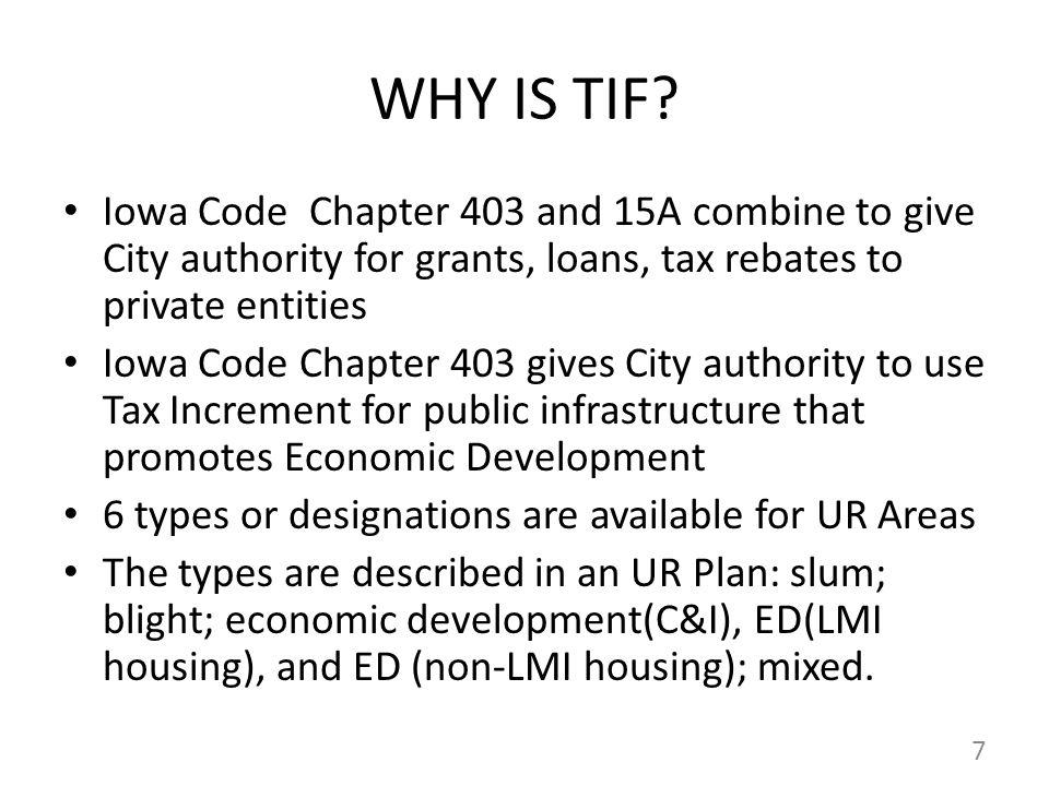WHY IS TIF.