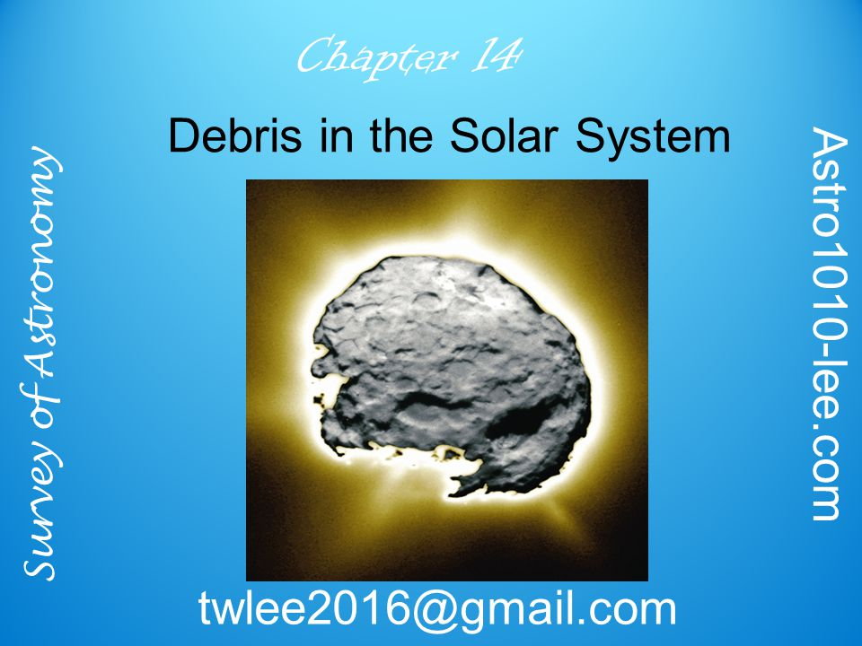 Survey of Astronomy Astro1010-lee.com twlee2016@gmail.com Chapter 14 Debris in the Solar System