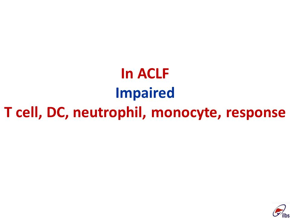 In ACLF Impaired T cell, DC, neutrophil, monocyte, response