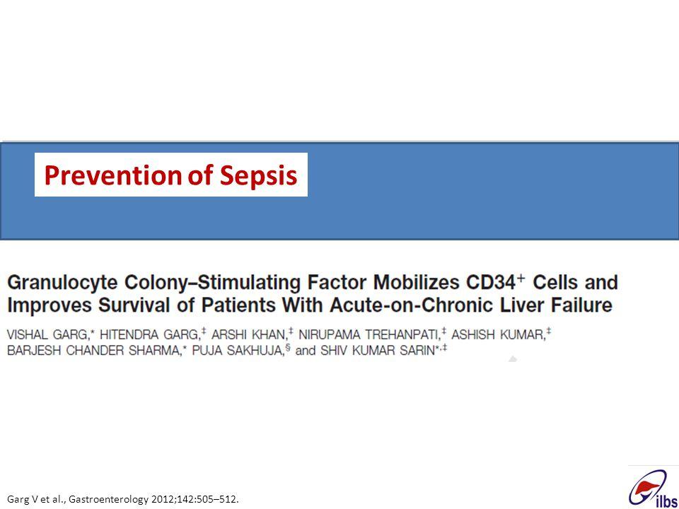 Garg V et al., Gastroenterology 2012;142:505–512. Prevention of Sepsis