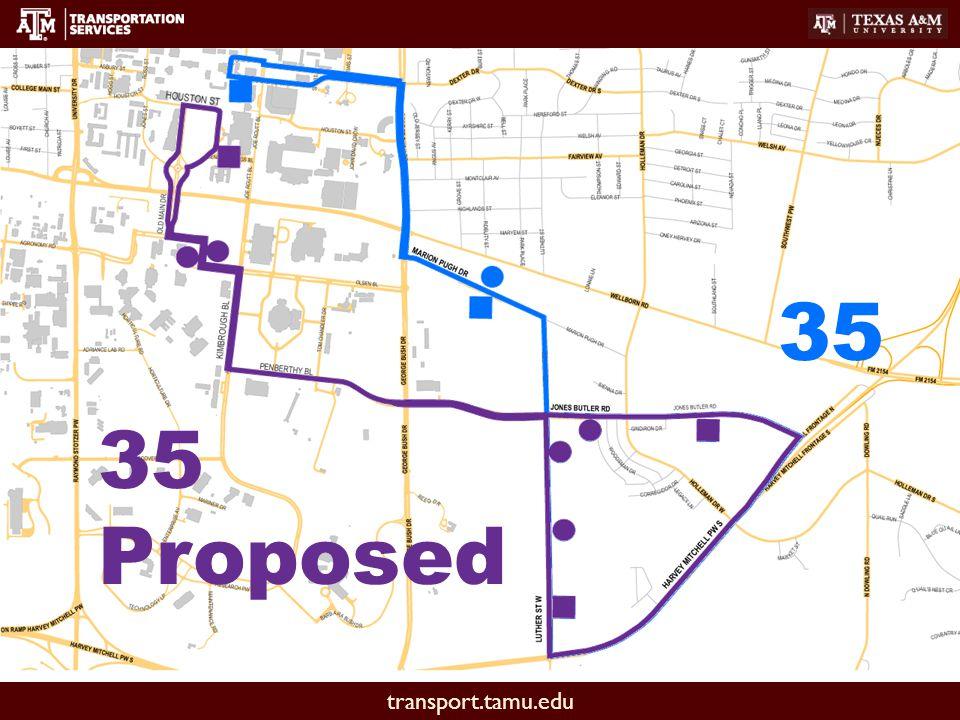 transport.tamu.edu 35 35 Proposed