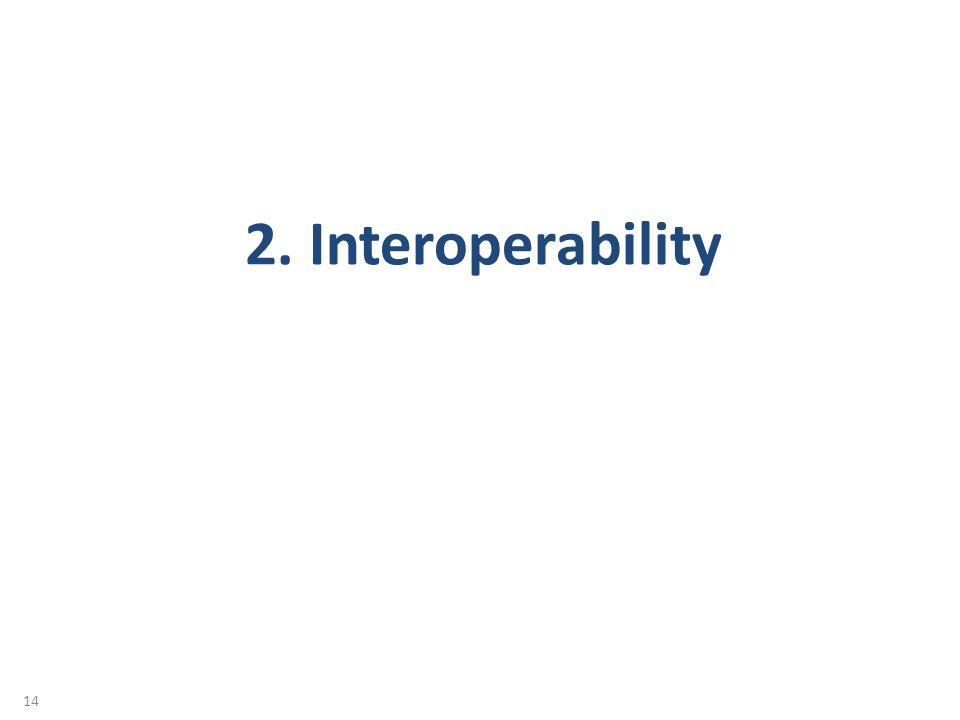 14 2. Interoperability