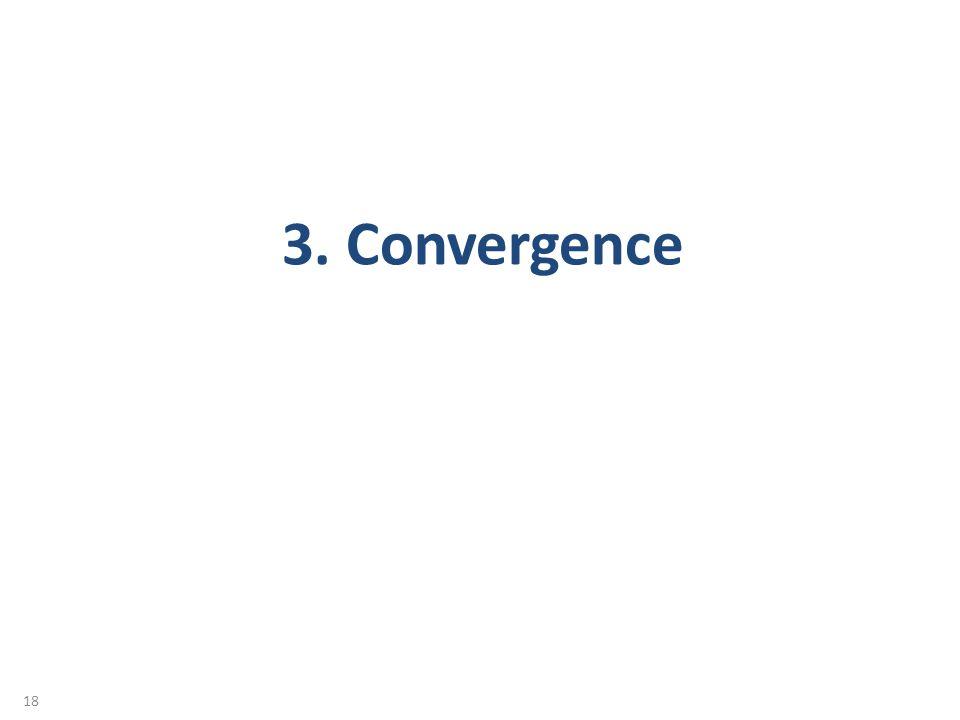 18 3. Convergence