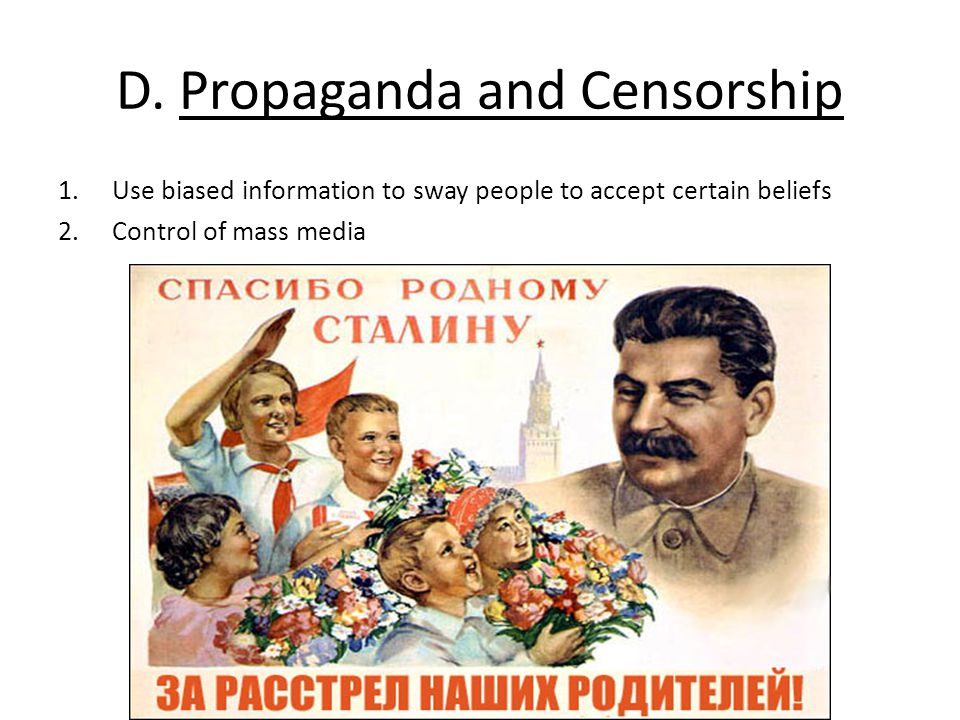 Daily Life Under Stalin Personal freedoms limited/oppression Goods in short supply Women expected to provide the state with future generations of loyal citizens Total social control and terror