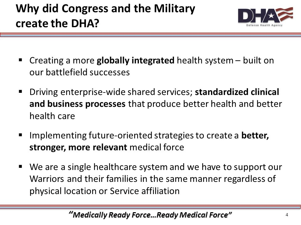 Medically Ready Force…Ready Medical Force How are we getting there.