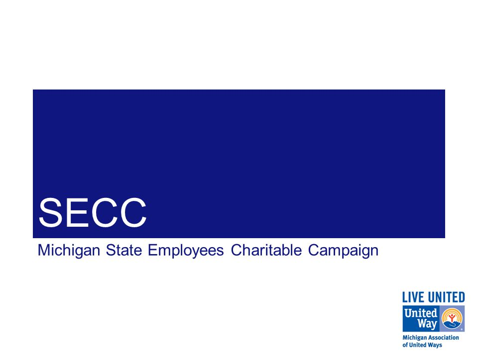 SECC Through its partnership with United Ways across the State of Michigan and with other federations, MAUW has developed a statewide network of relationships with which SECC can leverage.