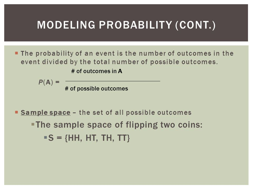  In everyday speech, when we express a degree of uncertainty without basing it on long-run relative frequencies or mathematical models, we are stating subjective or personal probabilities.