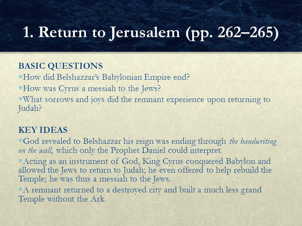 ALTERNATIVE ASSESSMENT Free write about each of the good actions described in Zechariah 7:9–10 (p.