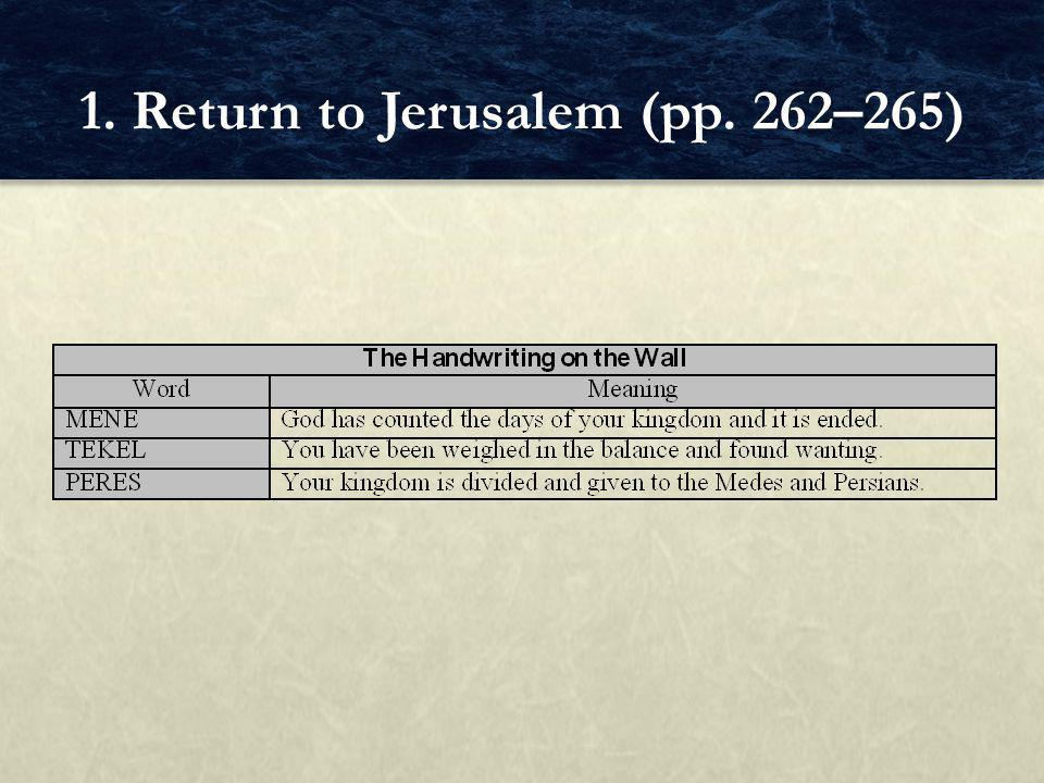 FOCUS QUESTIONS What was the dream of Ezra and Nehemiah.