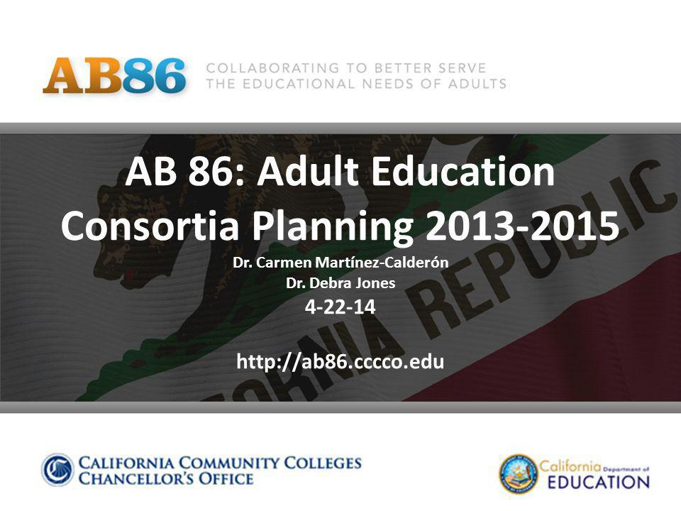 Strengthening California's Workforce State Outlook - Statistics Connection between Workforce and Adult Education Commitment from Legislature What we've done Why you need to be involved How you can be involved 4-22-14