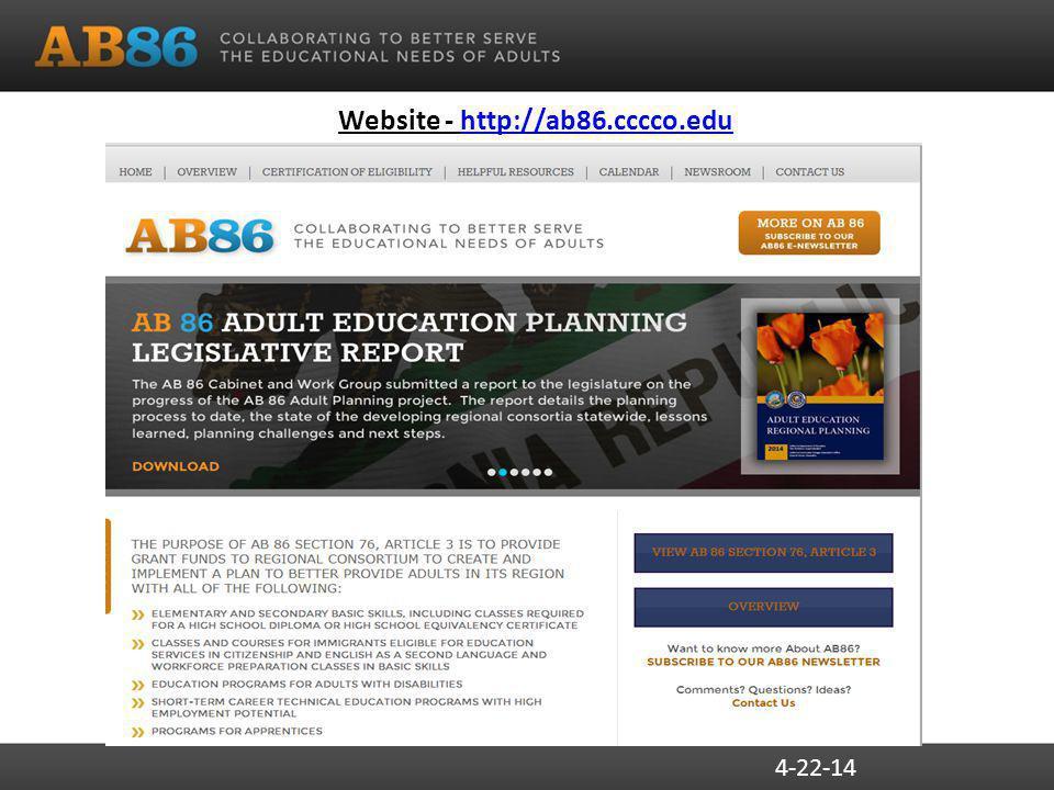 Website - http://ab86.cccco.eduhttp://ab86.cccco.edu