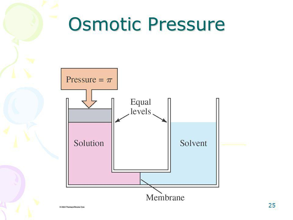 25 Osmotic Pressure