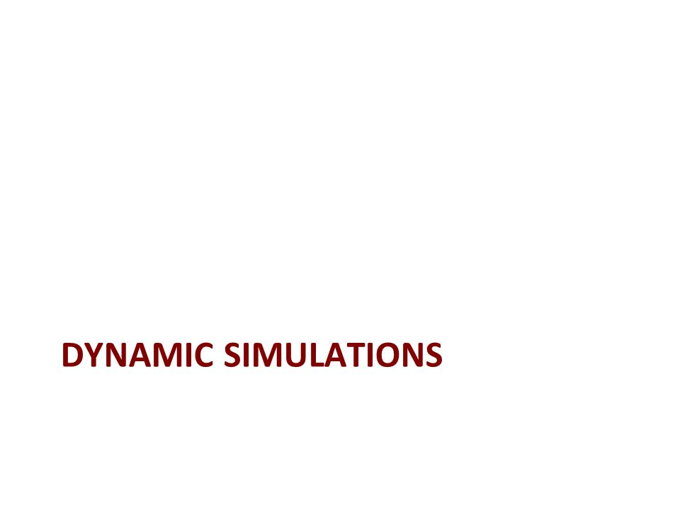 DYNAMIC SIMULATIONS