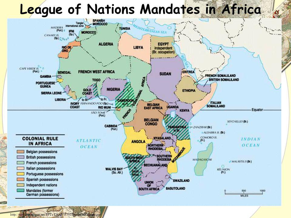 League of Nations Mandates in Africa http://www.pptpalooza.net/PPTs/EHAP/WWITerritorialChanges.ppt