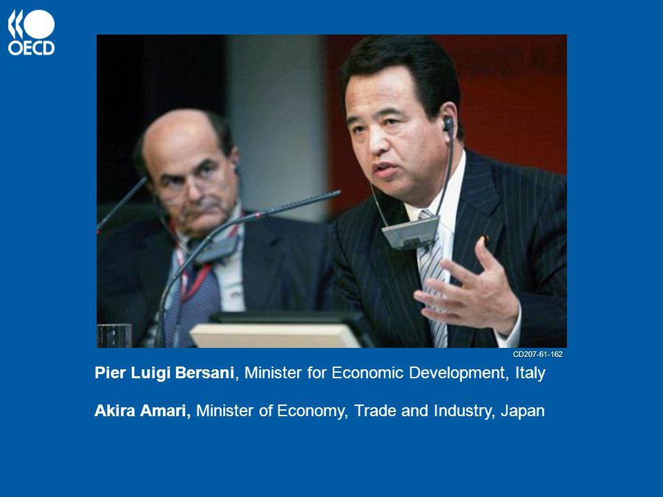 Akira Amari, Minister of Economy, Trade and Industry, Japan Pier Luigi Bersani, Minister for Economic Development, Italy CD207-61-162