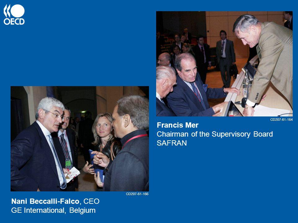 Nani Beccalli-Falco, CEO GE International, Belgium Francis Mer Chairman of the Supervisory Board SAFRAN CD207-61-166 CD207-61-164