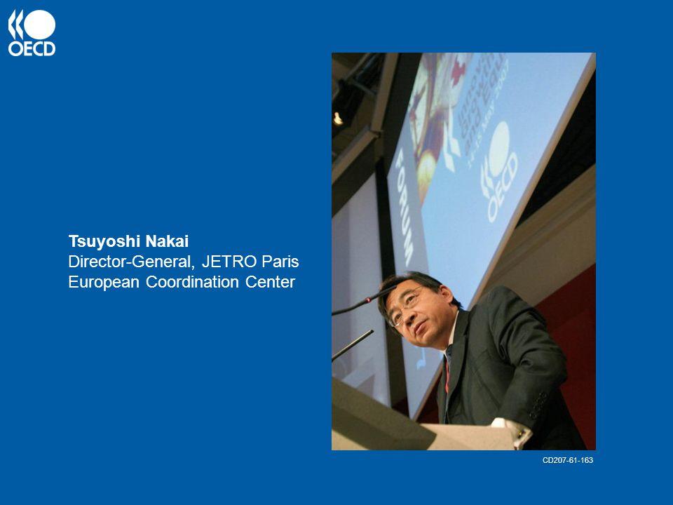 Tsuyoshi Nakai Director-General, JETRO Paris European Coordination Center CD207-61-163