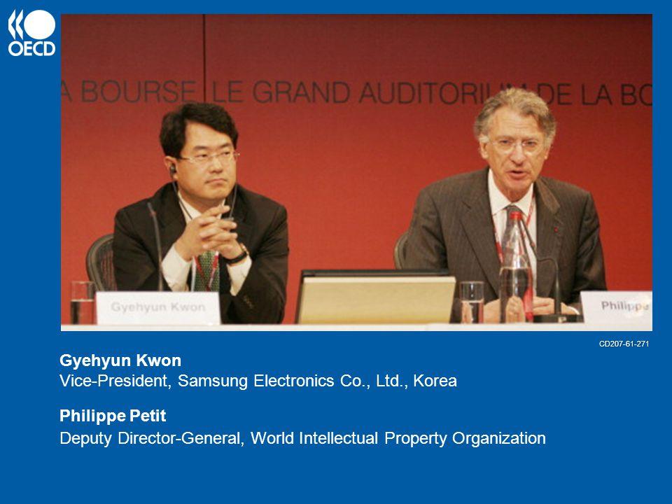 Gyehyun Kwon Vice-President, Samsung Electronics Co., Ltd., Korea Philippe Petit Deputy Director-General, World Intellectual Property Organization CD207-61-271