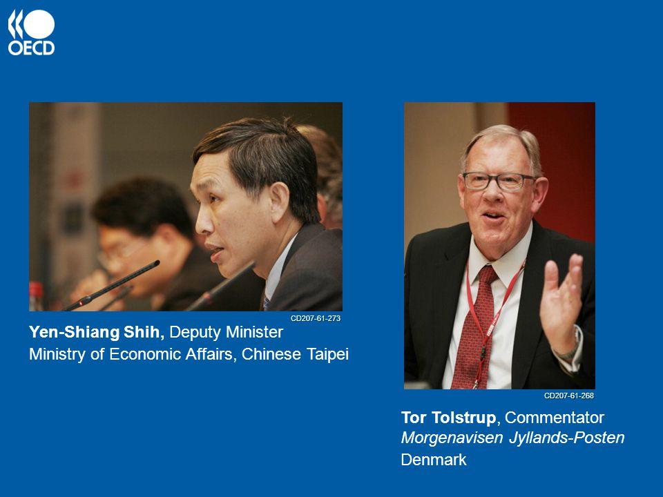Yen-Shiang Shih, Deputy Minister Ministry of Economic Affairs, Chinese Taipei Tor Tolstrup, Commentator Morgenavisen Jyllands-Posten Denmark CD207-61-273 CD207-61-268
