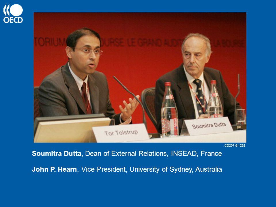 Soumitra Dutta, Dean of External Relations, INSEAD, France John P.