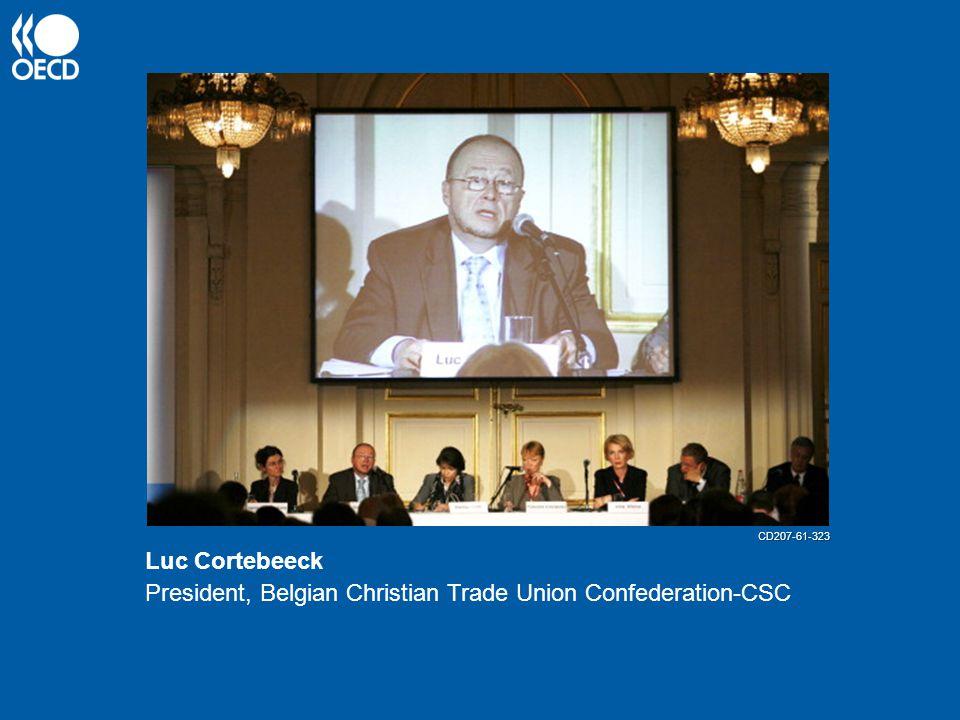 Luc Cortebeeck President, Belgian Christian Trade Union Confederation-CSC CD207-61-323