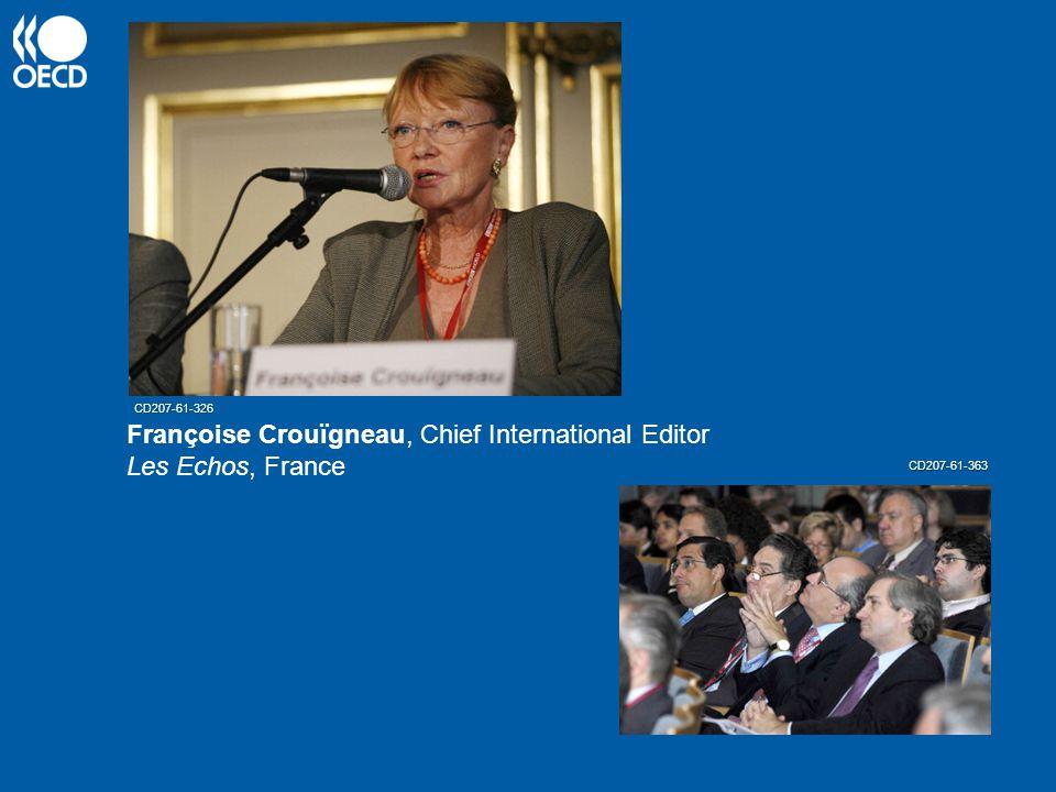 Françoise Crouïgneau, Chief International Editor Les Echos, France CD207-61-326 CD207-61-363