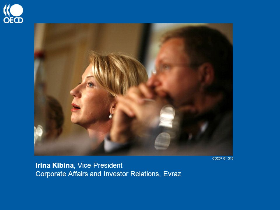 Irina Kibina, Vice-President Corporate Affairs and Investor Relations, Evraz CD207-61-318