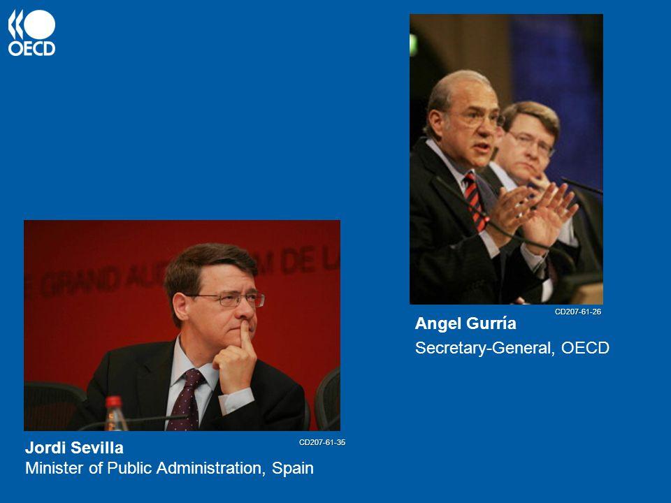 Angel Gurría Secretary-General, OECD Jordi Sevilla Minister of Public Administration, Spain CD207-61-35 CD207-61-26