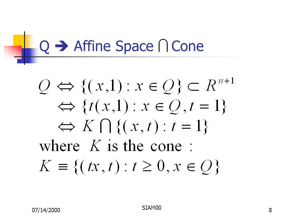 07/14/2000 SIAM00 8 Q  Affine Space Cone