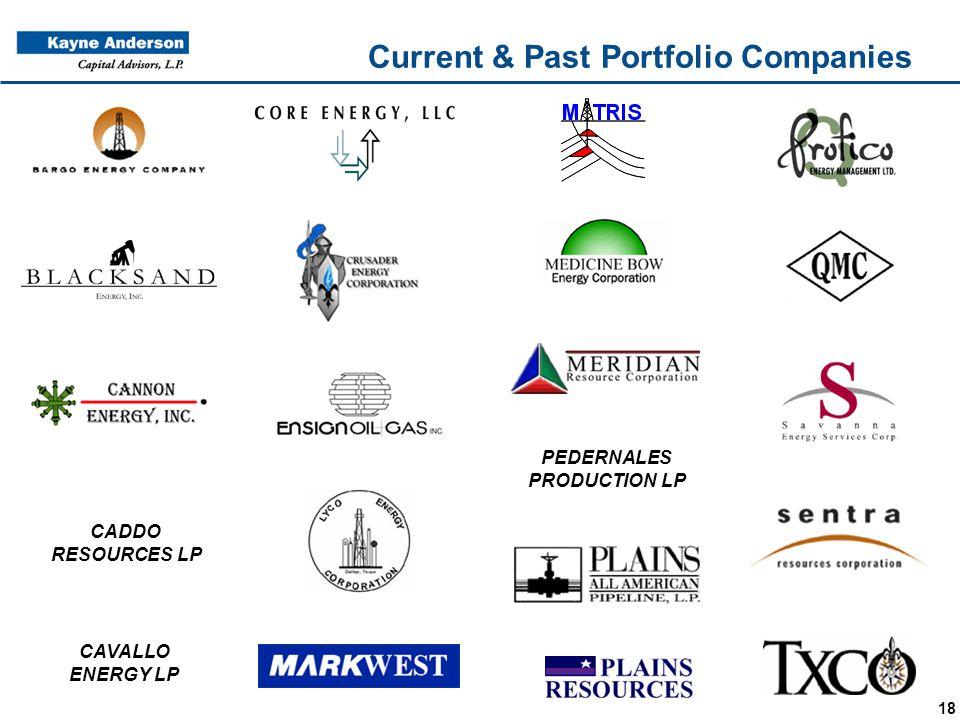 18 Current & Past Portfolio Companies CADDO RESOURCES LP CAVALLO ENERGY LP PEDERNALES PRODUCTION LP