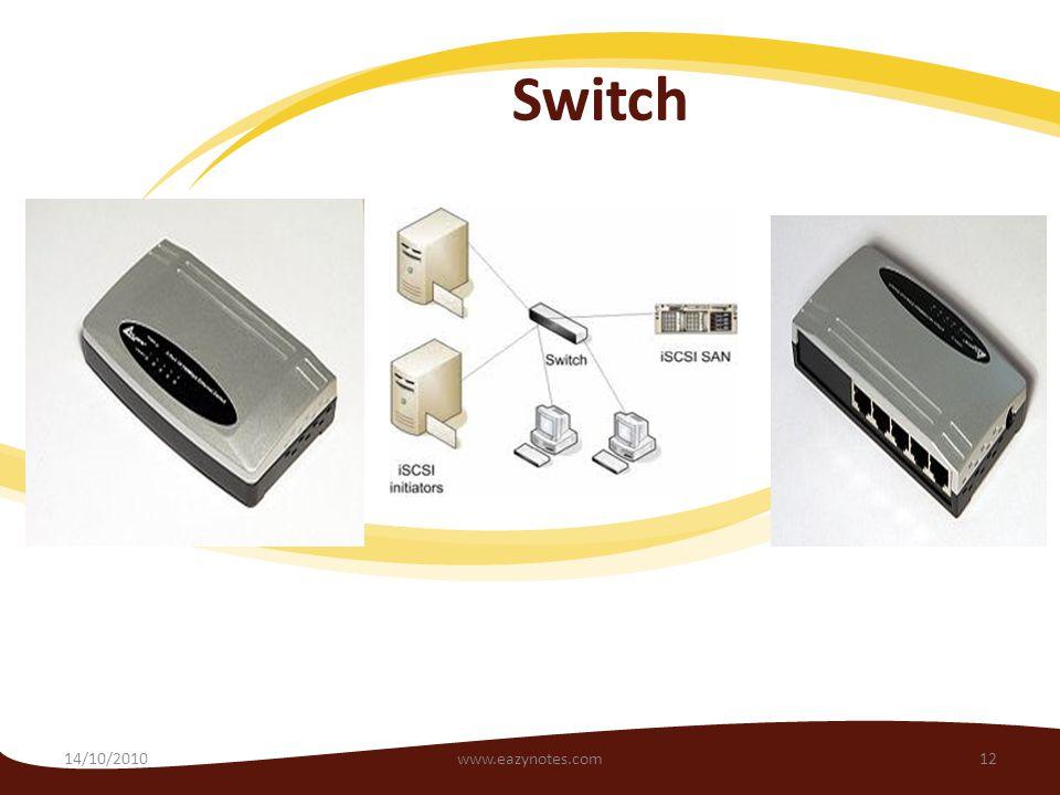 Switch 14/10/201012www.eazynotes.com