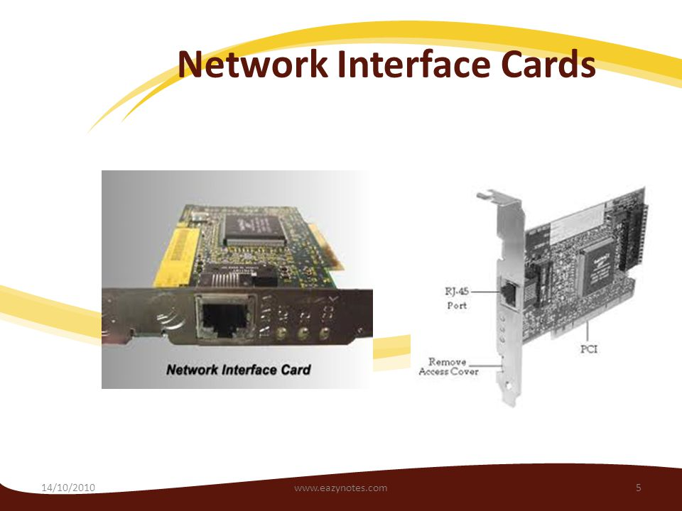 Network Interface Cards 14/10/20105www.eazynotes.com