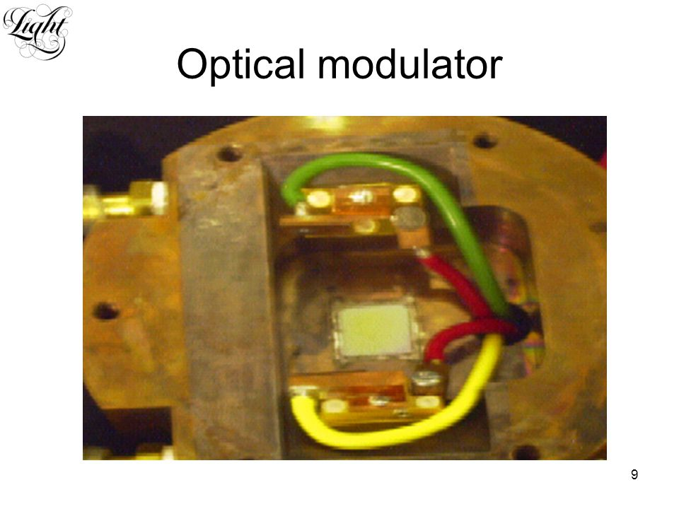 9 Optical modulator