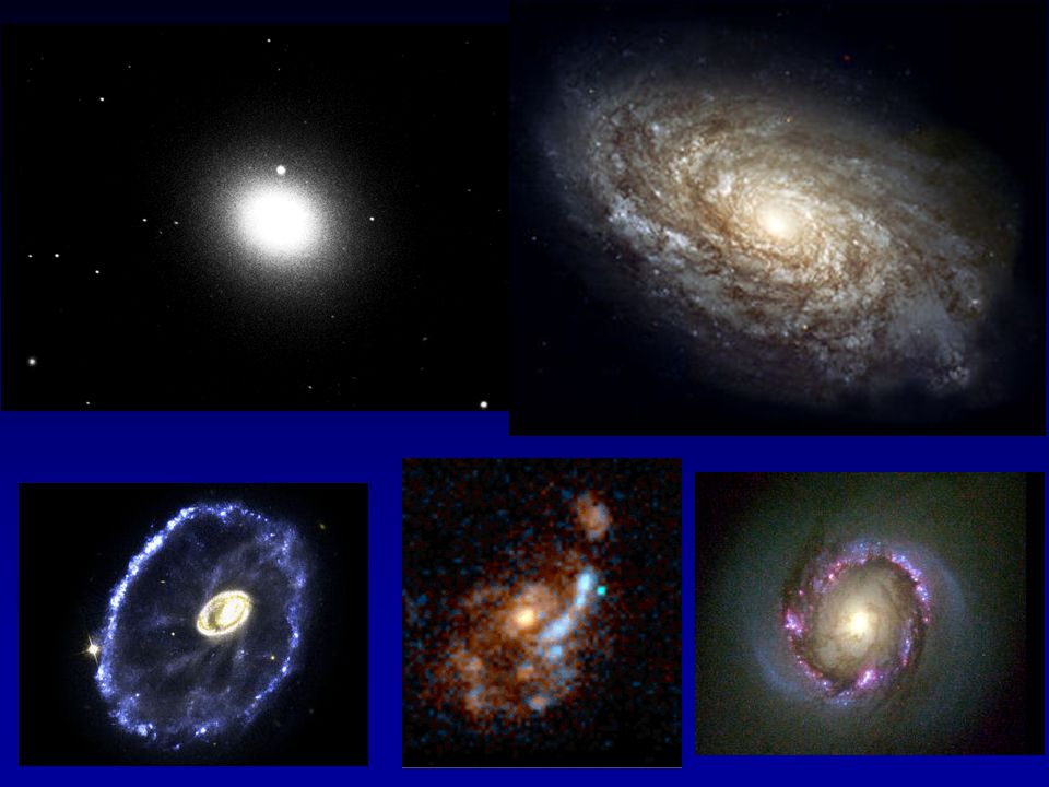 Galaxies come with a wide range of different morphologies.