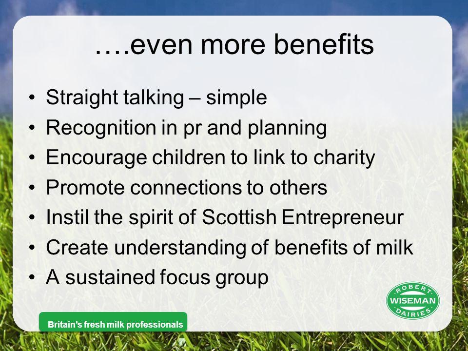 Britain's fresh milk professionals Benefits for us.