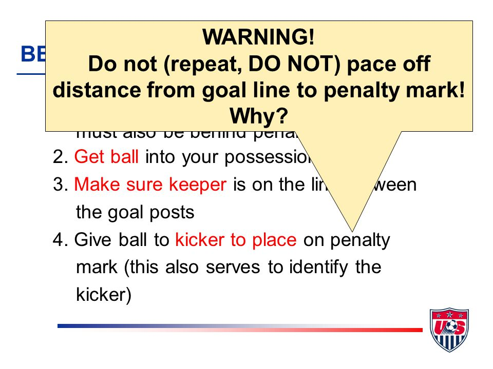 You signal for the penalty kick once everyone and everything is in place But what do you do if something happens between the time you signal and the time the ball is in play.