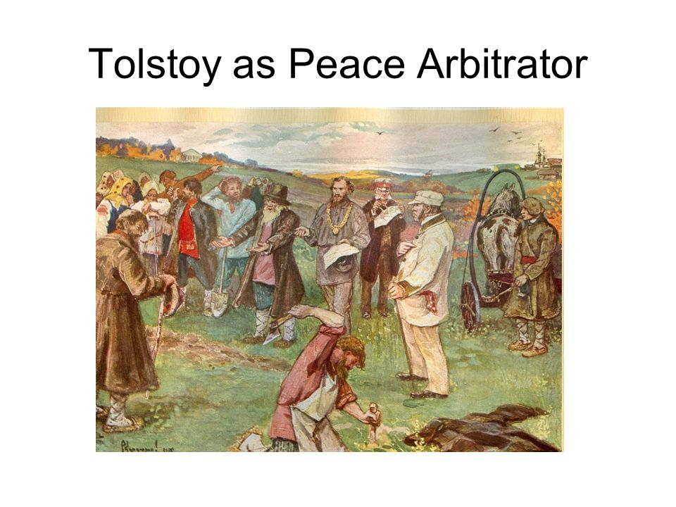 Tolstoy as Peace Arbitrator