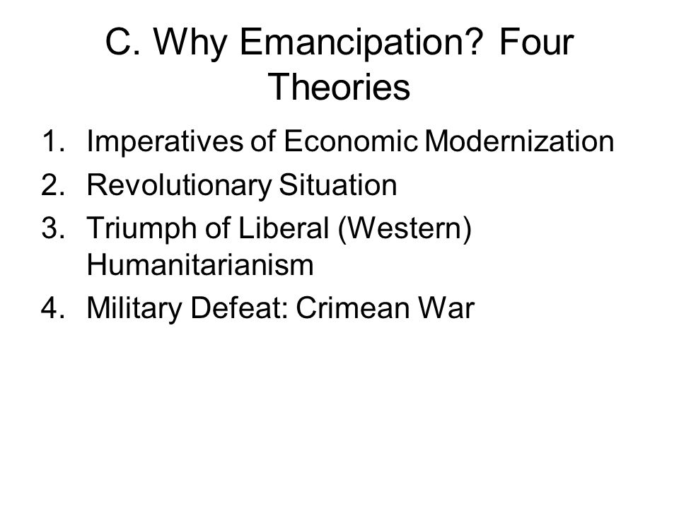 C. Why Emancipation.