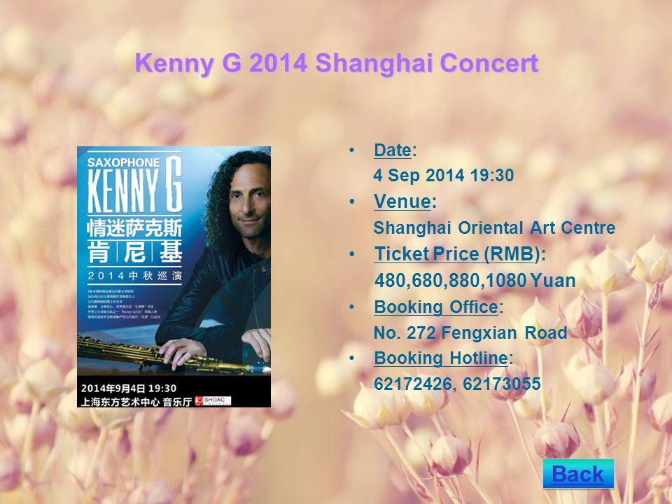 Jiang Tian & Inbal Segev s Masterpiece Concert Date: 17 Sep 2014 19:30 Venue: Shanghai Concert Hall Ticket Price (RMB): 180,280,380,580Yuan Booking Office: No.