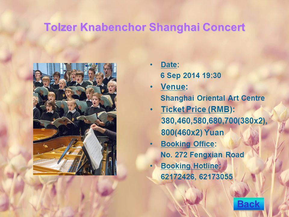 Flamenco Carmen by the Spanish Ballet of Murcia Date: 7 Sep 2014 19:15 Venue: Shanghai Oriental Art Centre Ticket Price (RMB): 680,880 Yuan Booking Office: No.